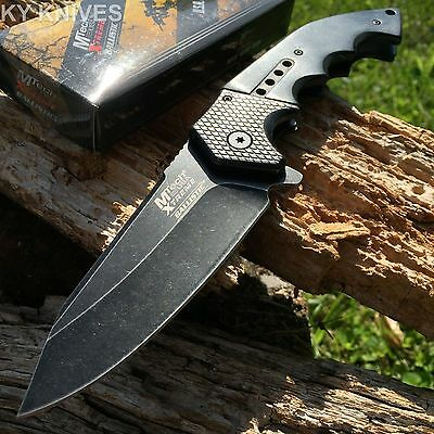 MTECH XTREME BALLISTIC Spring Assisted Open TACTICAL Pocket Knife BOWIE A829BK