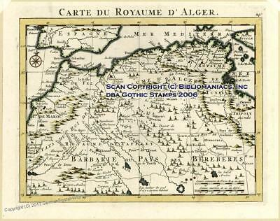 Algeria Barbary Mercator Sanson 1734 Antique Map 30239