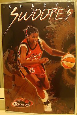 Sheryl Swoopes ~ Houston Comets ~ 1998 ~ Vintage Costacos  Full Size Poster