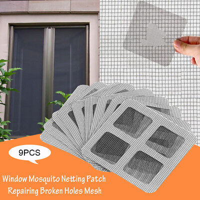 9Pcs Window Door Screen Adhesive Repair Kit Patch Anti-mosquito Covering Up Hole