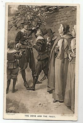 zx religious postcard religion england signed harold copping