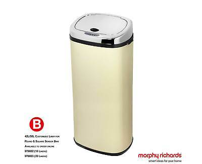 Morphy Richards Chroma Sensor Bin 50 Litre Square