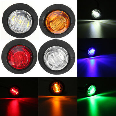 12V CAR AUTO TRUCK TRAILER SMALL ROUND LED BULLET BUTTON Mini MARKER LIGHTS LAMP