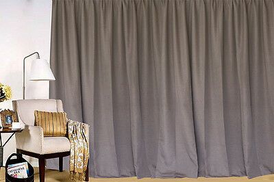 Large Linen Fabric Blockout Curtains 530x230cm PINCH PLEAT 2 panels New+30 Hooks