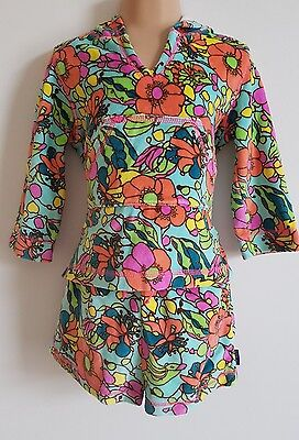 TED BAKER Girls Pretty Bold Floral Towelling Two Piece Set, Aged 18 months