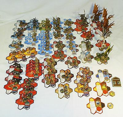 HeroScape 650+ pc. Lot Terrain Onyx Viper Rise Valkyrie Figures Cards Mimrings