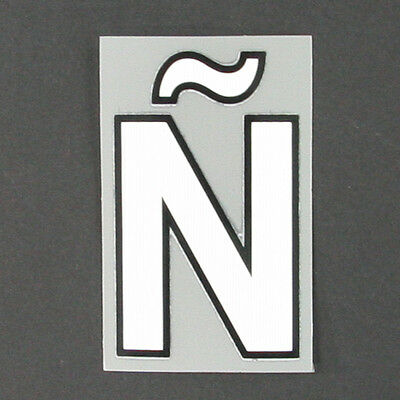 NEW - 17 / 20 -PREMIER LEAGUE ADULT / WHITE LETTER N WITH TILDE / SIZE=70mm