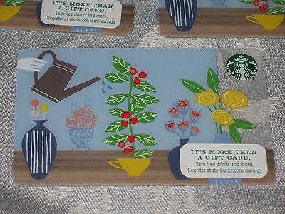 5 Starbucks Watering Can Gift Card - No Value - Lot - 2015 - Brand New !
