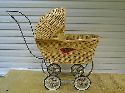 Antique Childs (Toddler Size) Baby Doll Buggy~  Wicker~ Adorable