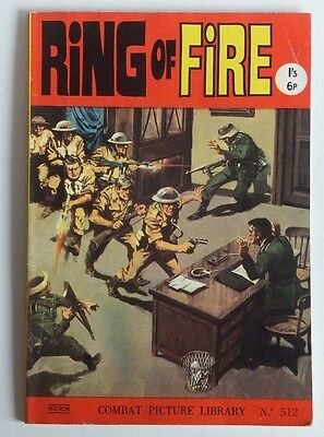 """COMBAT Picture Library. # 512 """"Ring of Fire"""", issued approx. 1970"""
