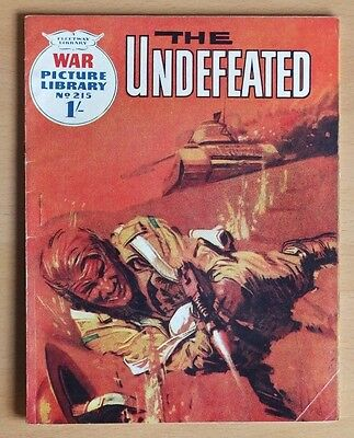 """WAR PICTURE LIBRARY # 215 """"The Undefeated"""" issued October 1963. Pre-decimal 1/-"""