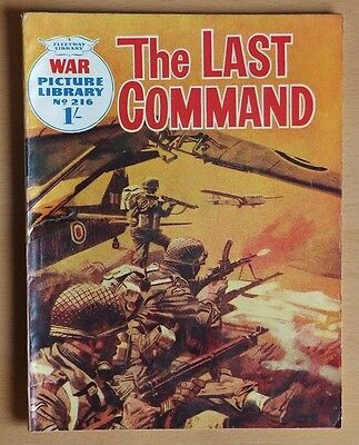 """WAR PICTURE LIBRARY # 216 """"The Last Command"""" Pre-decimal issue November 1963."""