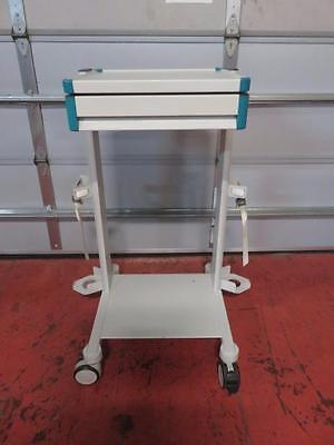 Mobile Anesthesia / Medical Cart Stand with 2 Shelves & 1 Drawer