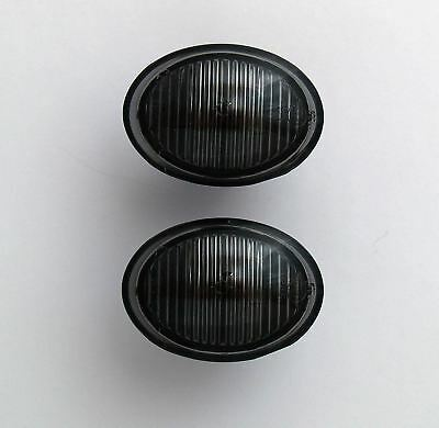 Abarth Fiat 500 Smoked Black Side Light Repeater Indicators