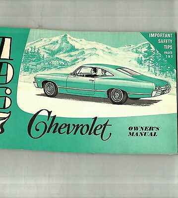 1967 Chevrolet Caprice, Impala, Belair Owner's Manual - Nos  New Old Stock