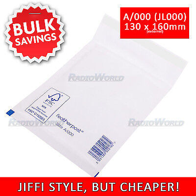 A/000 (JL000) 110mm x 160mm Jiffi Style Padded Mail Bubble Bags White Mail Bags
