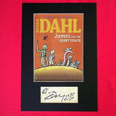 ROALD DAHL James and the Giant Peach Book Cover Autograph Signed Print 685