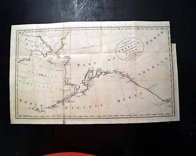 1784 Map of Asia & North America - Captain James Cook - Original & Historic