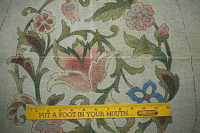 Antique Scottish Thistle Needlepoint CHAIR SEAT COVER CANVAS to Embroider C3639