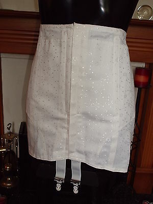 Liberty Vintage White Corset Girdle Size 40 In Waist 4 Suspenders