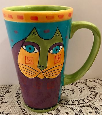 "Laurel Burch ""cat"" Latte Coffe Mug"