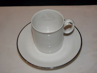 Eastern Airlines Demitasse Cup & Saucer First Class Service Very Collectible !