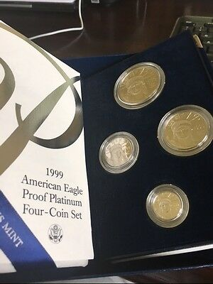 1999 -W Proof Platinum American Eagle 4 Coin Set - with Box and Certificate