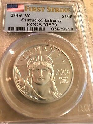 2006 W American Platinum Eagle  1 Oz Pcgs Ms 70 First Strike Coin !! Rare !!