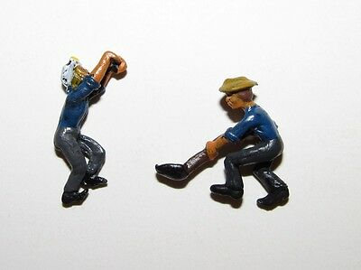 PRS~ Gold Coast Sn3 / S scale Metal Train Switchman + Ganger Figures - painted