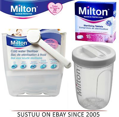 Milton Baby Utensils Cold Water Steriliser/ Solo Travel Steriliser/ 28 Tablets