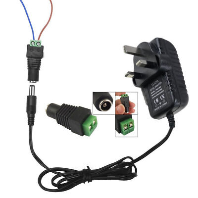 12V 2A AC to DC Adapter Charger Power Supply for LED light CCTV Camera UK Plug