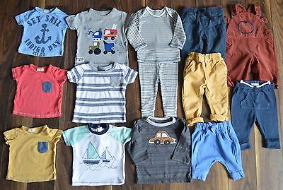 Next Baby Boys Clothes Bundle T-shirts Chinos Jogging Bottoms 0-6 Months Vgc