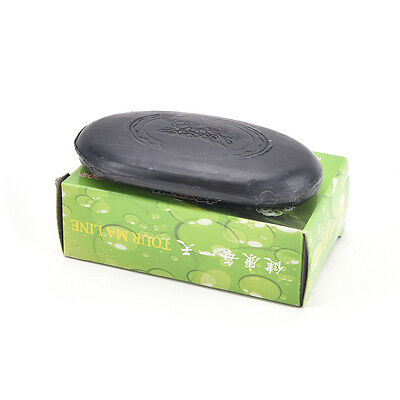 Black Bamboo Charcoal Soap Face Body Clear Anti Bacterial Tourmaline Soap LAUS