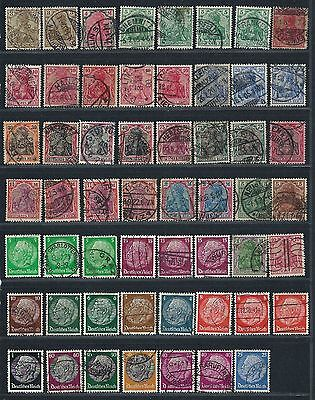 Germany / German   collection of used postage stamps, 8 SCANS