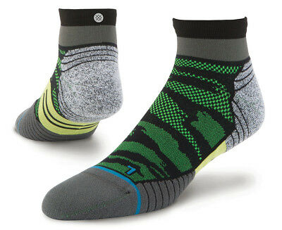 Stance Men's Bandit Quarter Run Sock - Green/Multi