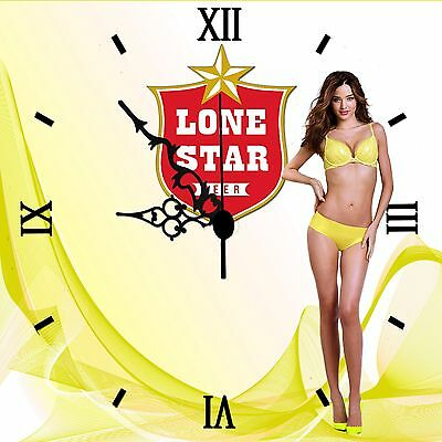 Vintage Lone Star Beer' Bar Sign Clock