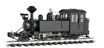 Bachmann G-Scale #91197 2-4-2 Steam Loco Black Unlettered, Lights, Smoke N.I.B.
