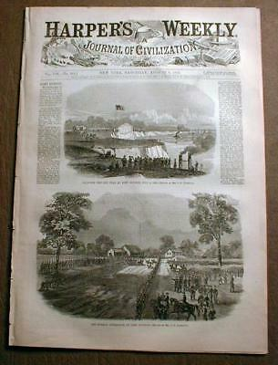 Original 1861-1865 Civil War illustrated newspaper HARPER'S WEEKLY 150 years old