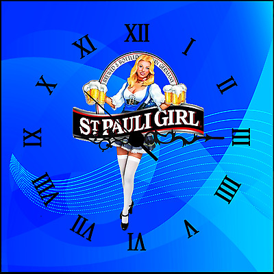 St Pauli Girl Beer Bar Sign/Clock