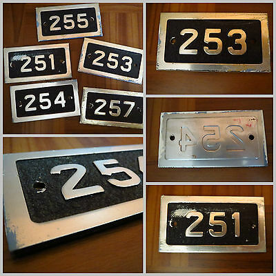 VTG 1970s Metal Door Number Sign Plates Insane Asylum Patient Rooms LOT 5ct