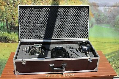 46-26 Genuine Kuhnle 3 piece presentation lamp set with lockable case AWESOME