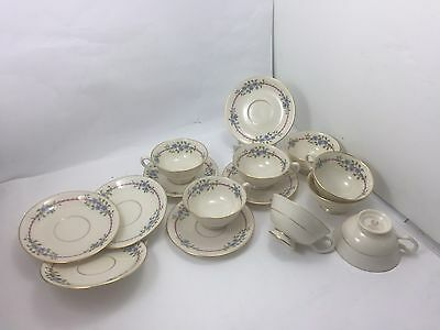 LENOX BELVIDERE S-314 Vintage CHINA TEA CUPS & SAUCERS SET 16 pcs MADE IN USA