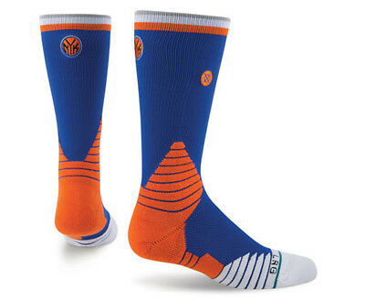 Stance Men's US Size 9-12 New York Knicks Basketball Crew Sock - Blue/Multi