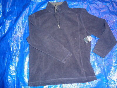 Mens L St Johns Bay 1/4 Zip navy Polyester Fleece Jacket New with Tags NWT