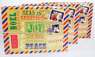 Christmas Parcel Gift Bag 3Pk Extra Large Wrap Present Luxury Eve Kids Brown Box