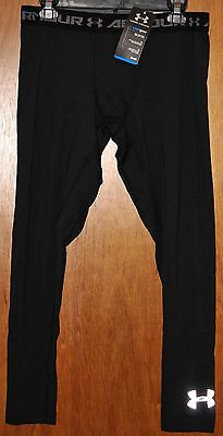 Boy's Under Armour Coldgear Armour Fitted Leggings  Black  Choose your Size