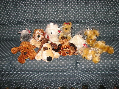 Russ and TY Lot of NWT Puppies Schnauzer Westie Droozy Whispie Sparkle Plush