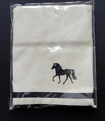 Rocky Mountain Horse Window Valance Natural denim w/ black design sample sale