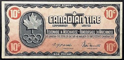 Vintage 1976 Canadian Tire 10 Cents Note **Great Condition** Free Combined S/H