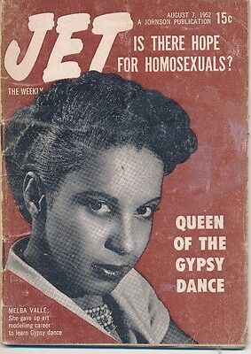 August 7 1952 Jet Magazine Is There Hope For Homosexuals Melba Valle Gypsy Queen